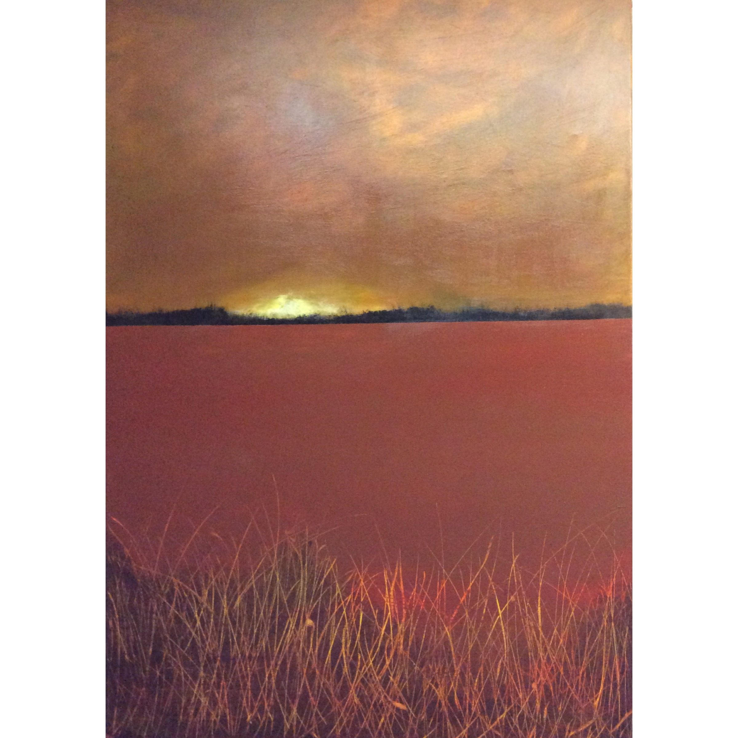 Abstract landscape in warm colors