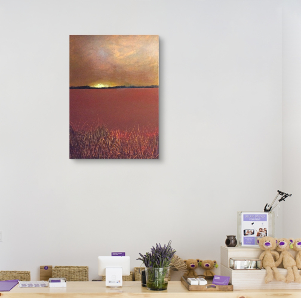 Interior design: Abstract landscape in warm colors