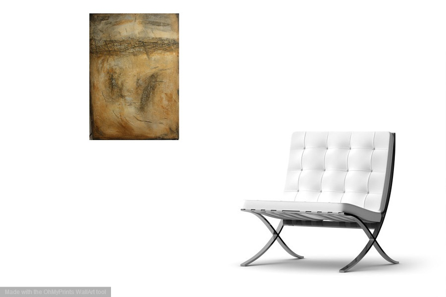 Interior design: Abstract textured painting in brown tones